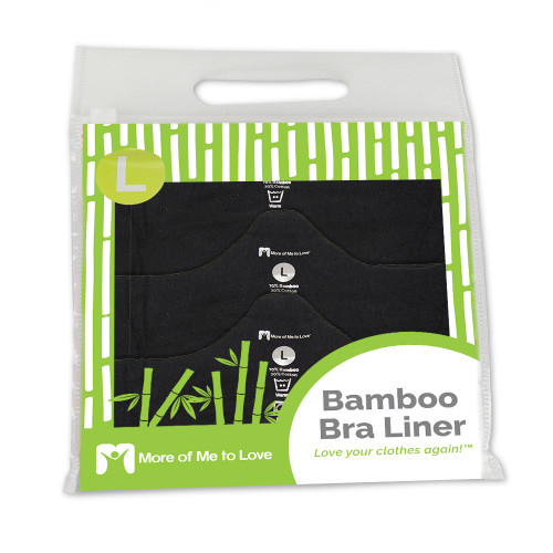 48e2ce318cd26 ... Deluxe Bamboo More of Me to Love Bra Liner (3-Pack) Black in