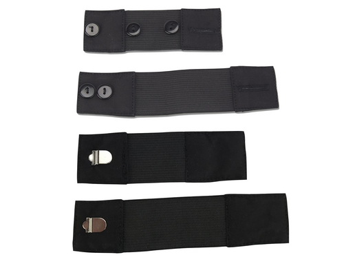 Stretch Elastic Hook & Button Waistband Extender 4 Pack