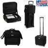 Executive carry and roller bag for laptop and projector.