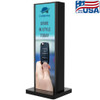 """Peerless Double sided stand setup with two 86"""" stretch displays in portrait"""