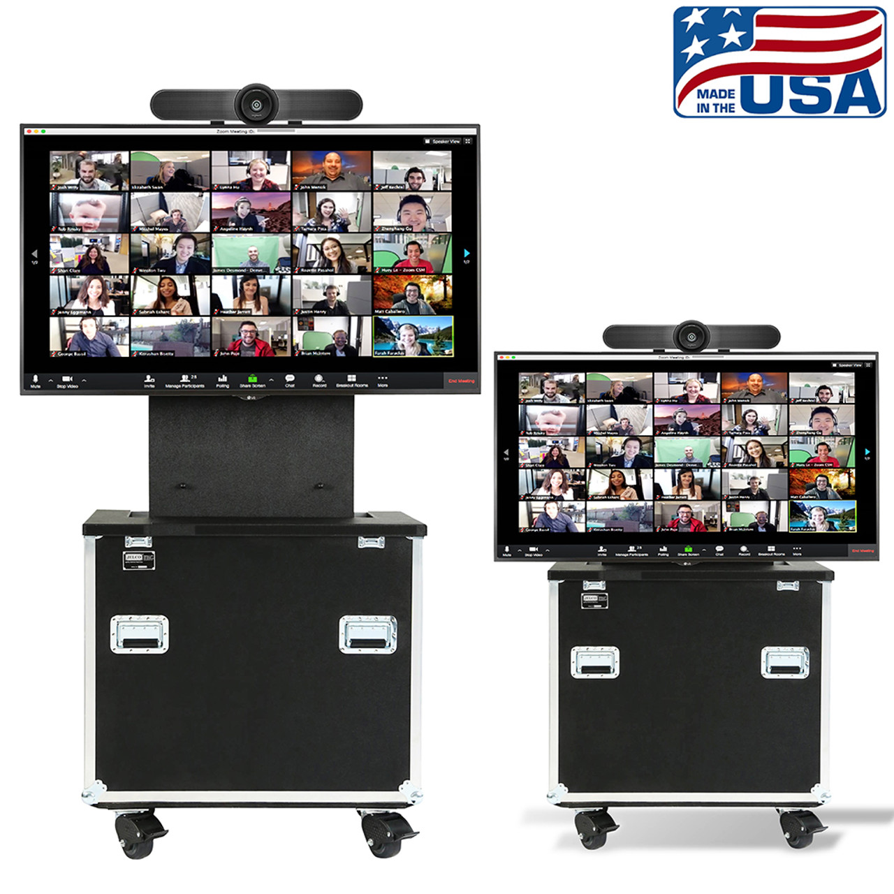 """RotoLift™ customized for 55"""" display and Logitech Meet Up"""