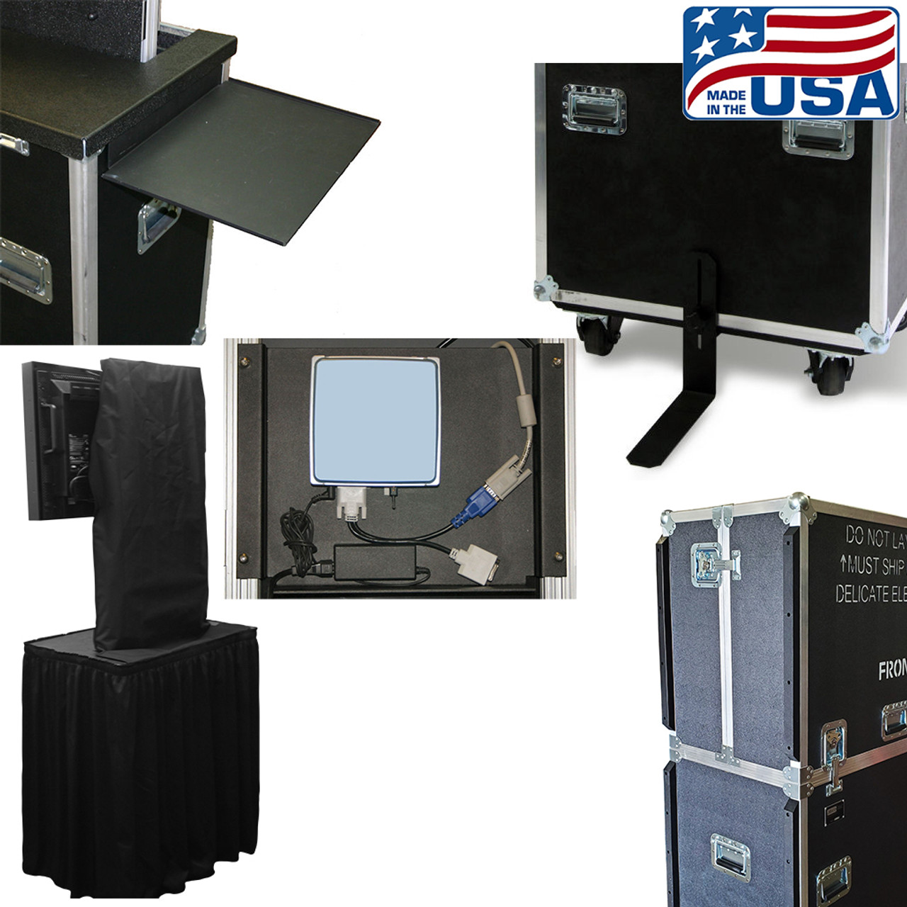 EZ-LIFT and RotoLift Accessories. Stabilizer kit, side glides or bumpers, mounting plate, hanging equipment shelf