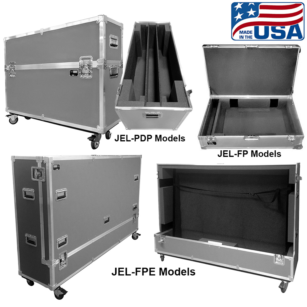 ATA shipping case for single and multiple displays