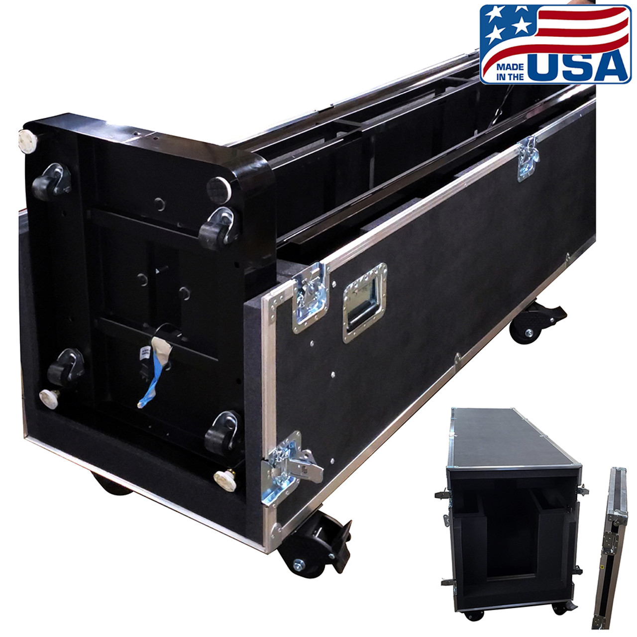 Shipping ATA Travel Case for Peerless KIP586-2LG double sided stand