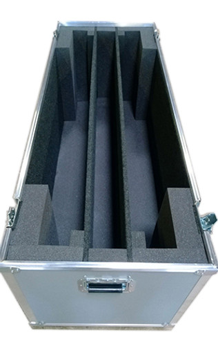 """JEL-FP70X2: Compact ATA Shipping Case for Two 65-70"""" Monitors"""