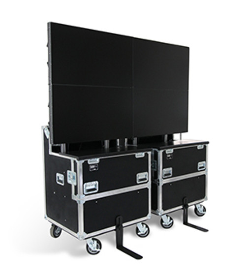 "ELU-60RX2: RotoLift™ Dual Lift Case for Two 60"" Flat Screens"