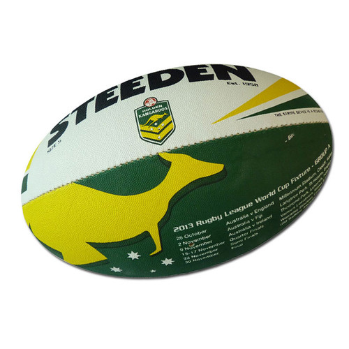 1eb97ac88c1 Kangaroos Rugby League World Cup Ball - Size 5 - OzSportsDirect