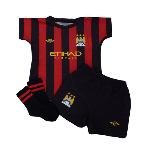 promo code 6e642 3356b Manchester City FC Away Baby Jersey and Shorts Set