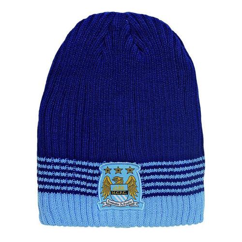 Manchester City FC Rib Knit Beanie - OzSportsDirect 80b0612be7d