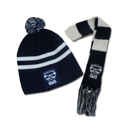 350ec604a Geelong Cats Baby Beanie & Scarf Set