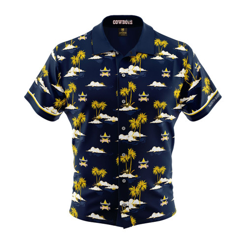 North QLD Cowboys 2019 Hawaiian Supporter Shirt 38db02322