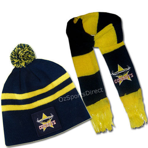 Nth Qld Cowboys Baby Beanie and Scarf Set - OzSportsDirect f5d492ea78d