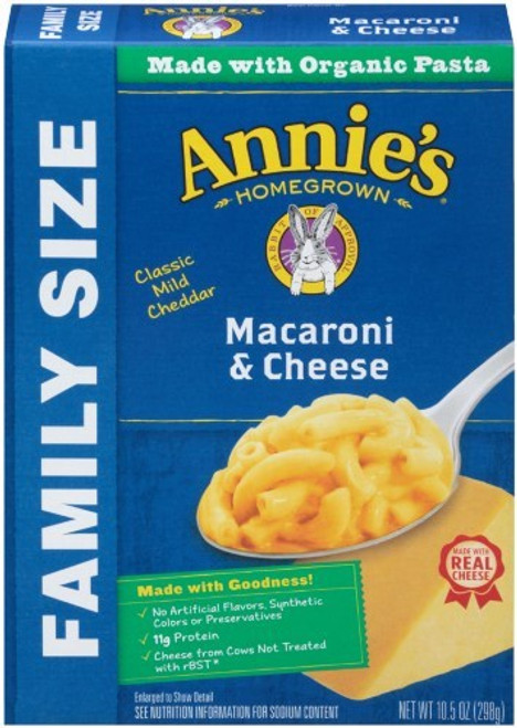 Annie'S Classic Macaroni & Cheese Family Size, Made With Organic Pasta