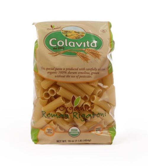 Colavita Organic Roman Rigatoni Pasta, 16 Ounce