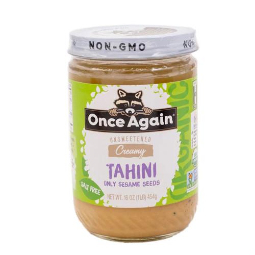 Unsweetened Creamy Tahini Only Sesame Seeds, Unsweetened Creamy