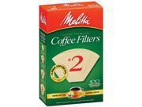 Natural Brown Cone Coffee Filters, #2