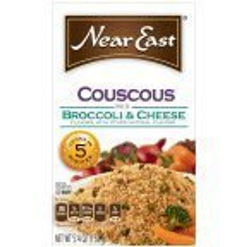 Near East Couscous Broccoli & Cheese Rice 5.4 Ounce Paper Box