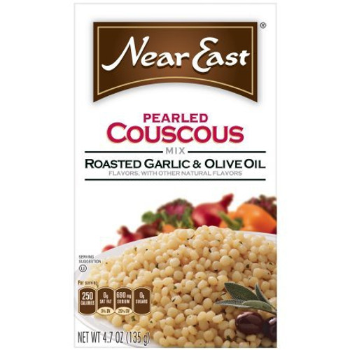 Near East Pearled Cous Cous Roasted Garlic & Olive Oil 4.7 Ounce Paper Box