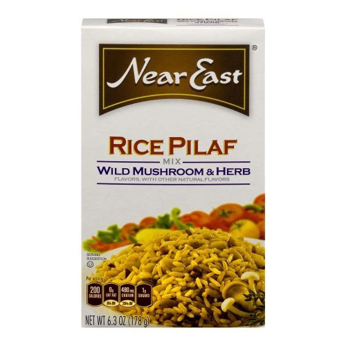 Near East Wild Mushroom & Herb Rice Pilaf Mix 6.3 Ounce Paper Box