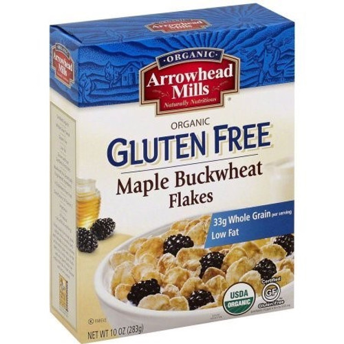 Arrowhead Mills Organic Gluten-Free Maple Buckwheat Flakes, 10 Oz