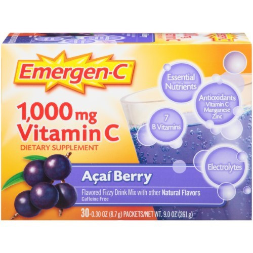 Emergen-C Vitamin C Drink Mix - Acai Berry - 30Ct