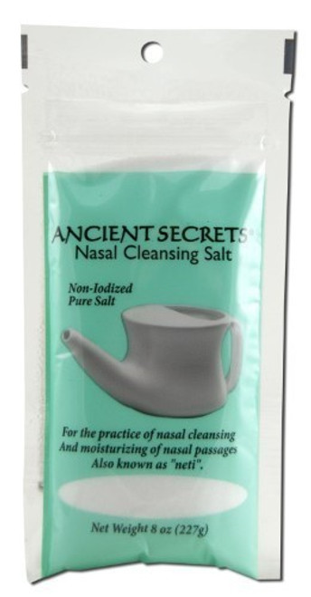 Ancient Secrets Nasal Cleansing Salt 8-Ounce, 0.54 Bags (Pack Of 24)