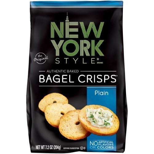 Plain Authentic Baked Bagel Crisps, Plain