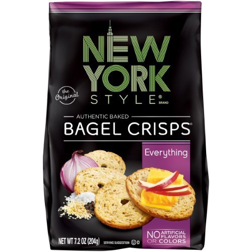 Everything Authentic Baked Bagel Chips, Everything
