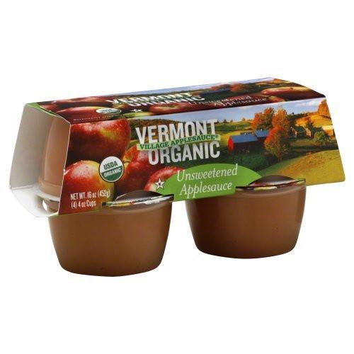Vermont Village Applesauce, Organic Unsweetened Applesauce