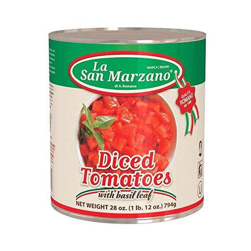 Diced Tomatoes With Basil Leaf