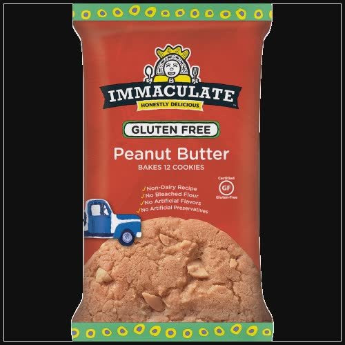 Immaculate Baking Gluten Free Peanut Butter Cookies 12 Count