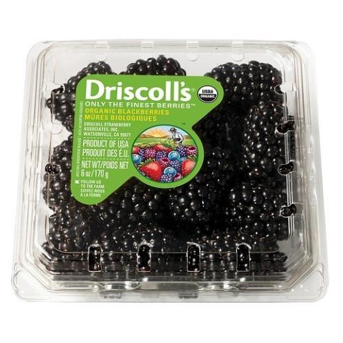 Organic 6Oz Blackberries