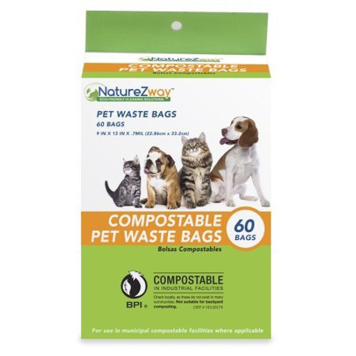 Compostable Pet Waste Bags 60 Ct.