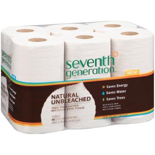 Seventh Generation - Unbleached Bath Tissue 2 Ply 493.00 Ct