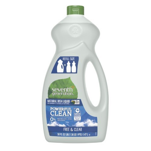 Seventh Generation Free & Clear Liquid Dish Soap - 50Oz
