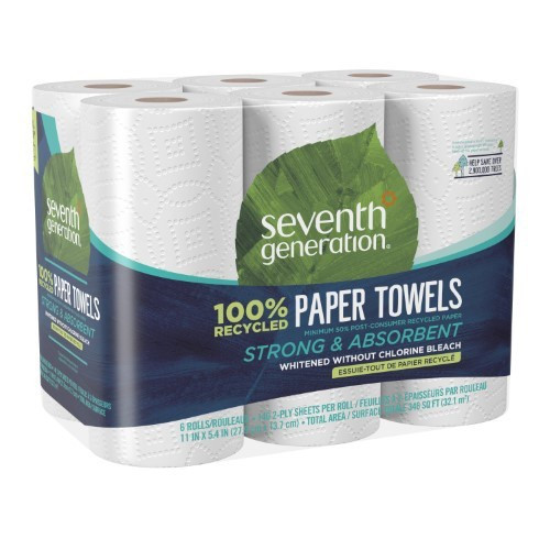 Seventh Generation Recycled Paper Towels - 6 Rolls