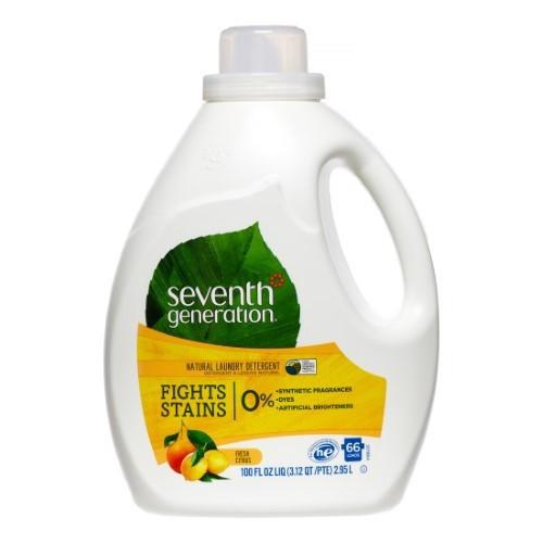 Seventh Generation Fresh Citrus Natural Laundry Detergent - 100 Fl Oz