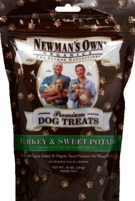 Newman's Own Turkey & Sweet Potato Biscuits Dog Treat - 10Oz