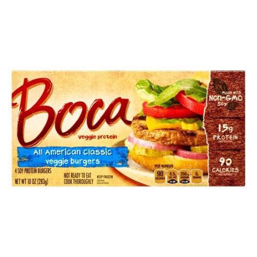 Boca Foods All American Classic Veggie Burger, 10 Ounce -- 12 Per Case.