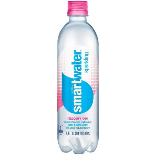 Smartwater Raspberry Rose Sparkling Water - 16.91 Fl Oz Bottle