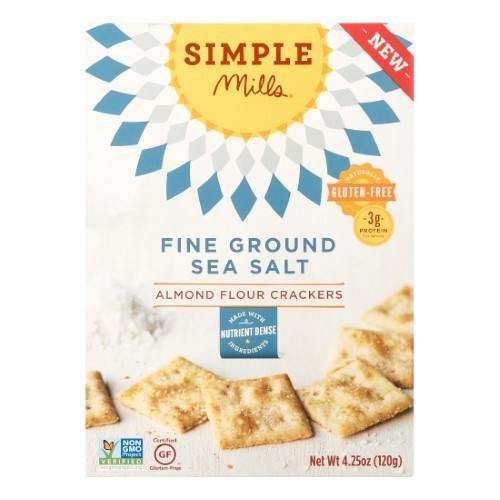 Almond Flour Crackers, Sea Salt