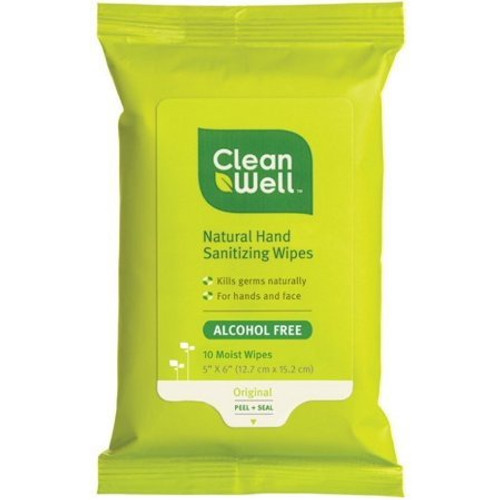 Cleanwell Natural Original Hand Sanitizer Wipes / Cloth
