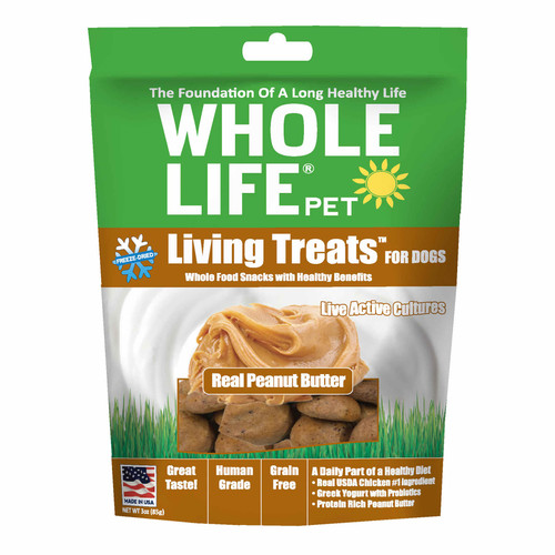 Whole Life Living Treats Real Peanut Butter Dog Treats 3 Oz