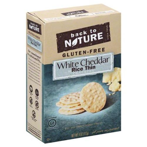 White Cheddar Rice Thin Crackers GF