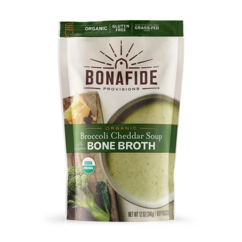 Broccoli Cheddar Bone Broth Soup ORG