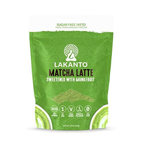 Matcha Latte sweetened with Monkfruit