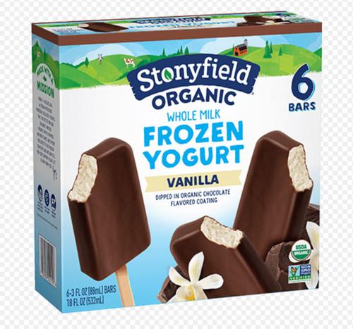 Milk Chocolate/ Vanilla Frozen Yogurt Pops ORG