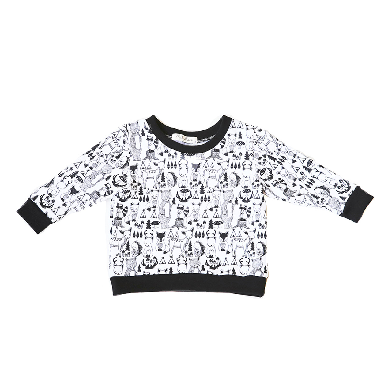 d08e54d9e2317 Mickey Rose Jumper - 5 Animal (LAST ONE LEFT - SIZE 1 YEAR) - Bubbalooz