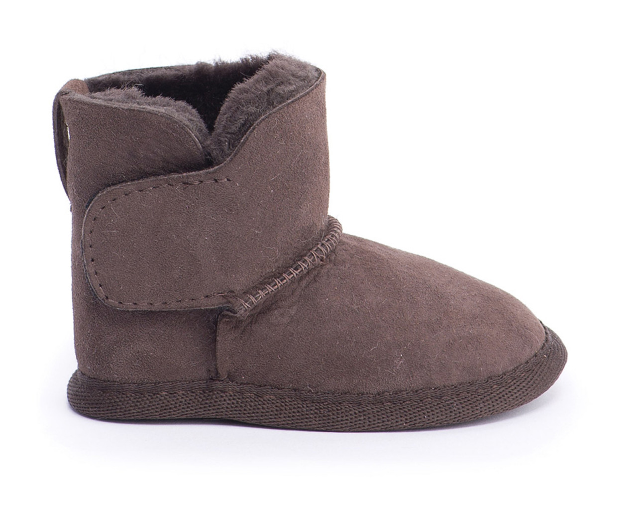 5be01a8f6cf0e Emu Baby Bootie - Chocolate (LAST PAIR LEFT - SIZE 0-6M) - Bubbalooz