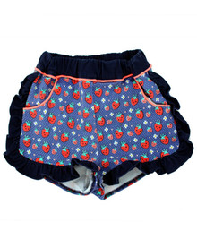Curious Wonderland - Kawaii Strawberry Frill Shorts